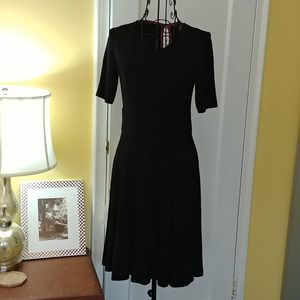 Black Vince Camuto Fit and Flare Dress